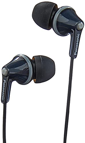 Panasonic RP-HJE125E-K Ergofit In Ear Wired Earphones with Powerful Sound, Comfortable Non-Slip Fit, Includes 3 Sized Ear Buds