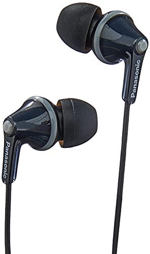 Panasonic RP-HJE125E-K In-Ohr-Kopfhörer (Drei Paar Pass-Stücke, 10-24.000 Hz, 1,1 m Kabel) schwarz