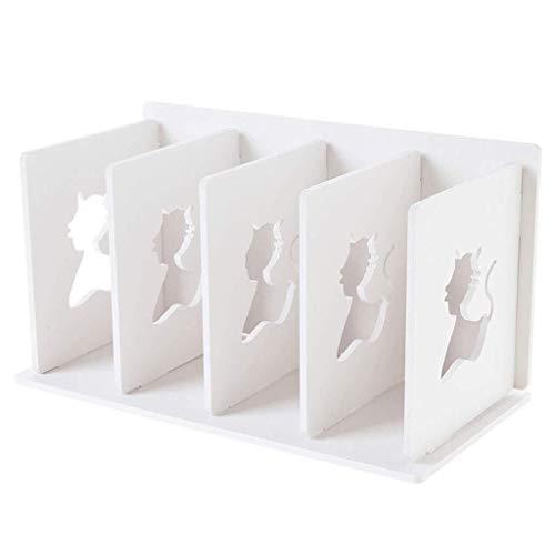 Yhtech De múltiples capas del archivo de almacenamiento en rack de escritorio estante Planta de almacenamiento en rack blanca 30.5x16x17cm estantería