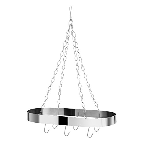 Premier Housewares Ovaler Deckenleuchte Rack, Chrom matt, Silber, 31x60x72