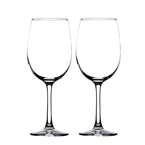 460ML * 2 Bordeaux Transparent Cristal Rouge Verres à Vin Champagne Ensemble Coffret Cadeau Emballage Maison Hôtel Grand Gobelet Idéal pour Anniversaire, Cadeaux de Mariage Ou de Mariage (Va Au Lave-V