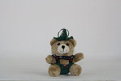 Bartl GmbH Euro souvenir, costumi jodel orsetto portachiavi, 12 cm, seduti