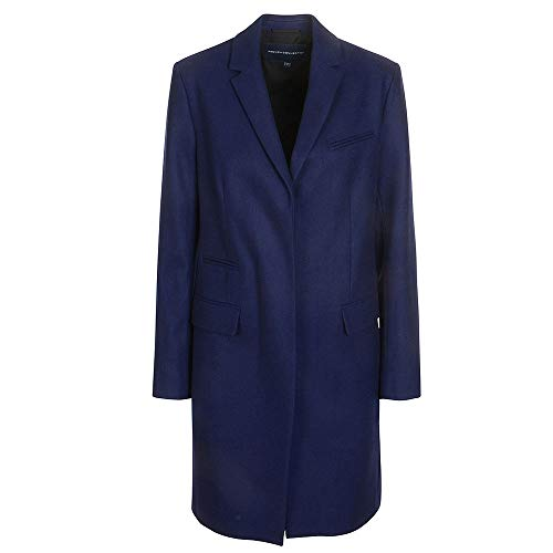 French Connection Damen PLATFORM FELT SMART COAT Mantel, Blau (Blau), 38
