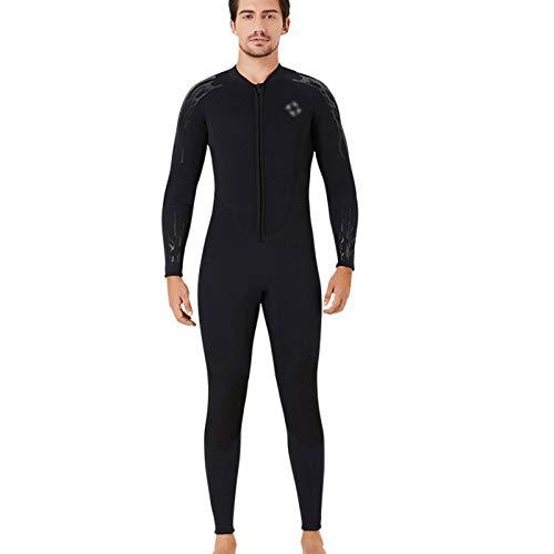 HJFGIRL Traje de Neopreno Ultra Stretch 1.5Mm, Traje de Buceo de Cuerpo Entero con Cremallera Frontal, One Piece For Man Women-Snorkeling, Buceo Natación, Surf,Trajes Húmedos,B-Xxlarge