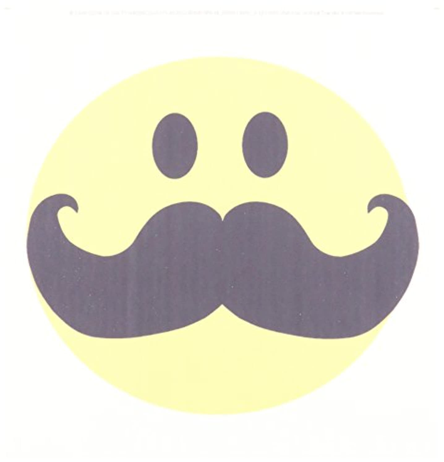 3dRose ht_113095_1 Yellow Smiley Face Black Mustache Fun Hipster Fancy Gentleman Cartoon Iron on Heat Transfer, 8 by 8-Inch