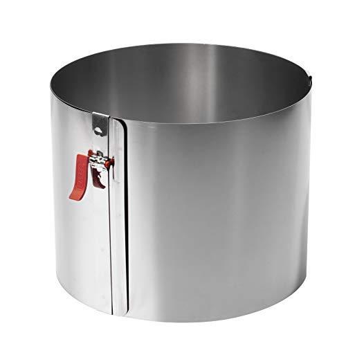 Lares - Kuchenring/Tortenring mit Griff - 18-30cm Ø, H: 15cm - Federbandstahl, stufenlos verstellbar - Made in Germany