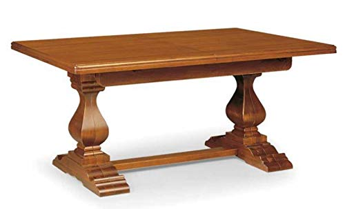 Dafne Italian Design - Mesa clasica extensible en nudillos - Estilo clasico (cm. L 180 - P. 100) (TVG)