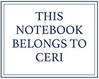 This Notebook Belongs to Ceri