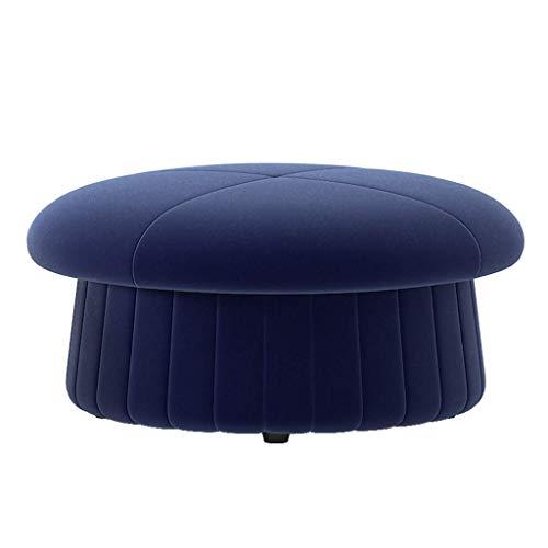 Poetry Paddenstoel-sofa, poef, voetensteun, elegant, creatief lief wisselende schoenenbank huis woonkamer slaapkamer salontafel kruk (kleur: blauw) marineblauw