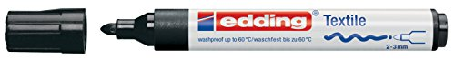 Edding 4500-01 - Marker for fabric, tapered tip, 2-3 mm, black color