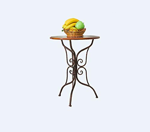 YWXCJ Tavolini da caffè Pequeña Mesa Redonda Mini Mesa de café Simple Mesa de café Redonda de Hierro Forjado sofá Europa Ocio Creativo salón balcón Mesa tavolini di piccole dimensioni
