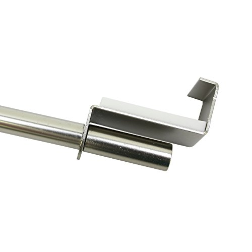 GARDINIA Spannvitrage, Ausziehbar, Montage ohne Schrauben und Bohren, Durchmesser 9 mm, Länge 60-90 cm, Metall, Titan