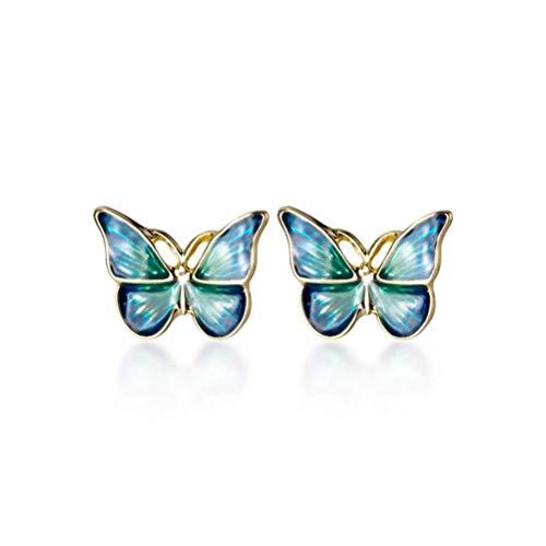 WOZUIMEI el Mago Del Estilo Mori Art Style Alas Azules Pendientes de Mariposa Pendientes Simples de...