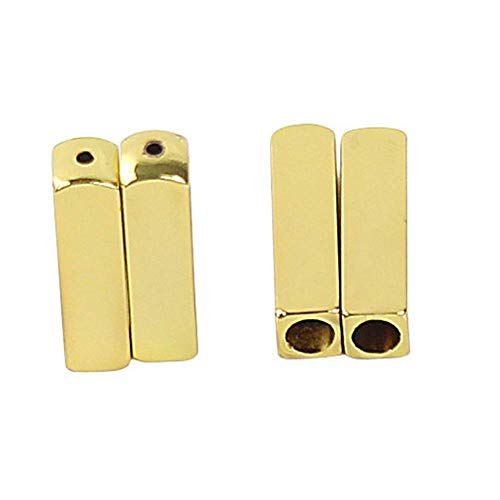 4PCS / Juego Metal Herrete de Cordones Tornillo Montaje para Bricolaje Reapairing, Unisex Decoración de Aleación de Zinc Cordones Punta - Oro, approx. 2x0.6cm (hxt)