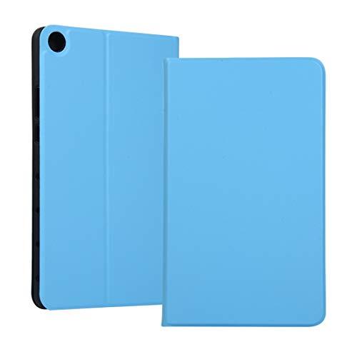 YANTAIAN Estuche Protector de TPU con Textura de Resorte Universal for Huawei Honor Tab 5 8 Pulgadas/Mediapad M5 Lite 8 Pulgadas, con Soporte (Color : Sky Blue)