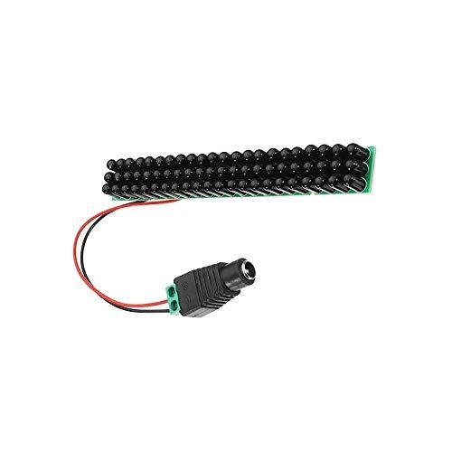 KEPUSHIYE DIY Zubehör 66pcs Schwarz IR-LEDs 940nm Infrarot-Strahler IR LED-Platine mit F5mm CCTV 60 Grad Invisible FÜR Mikrocontroller
