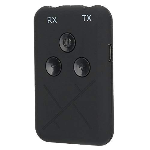 Receptor transmisor Bluetooth, Adaptador Bluetooth 4.2 inalámbrico 2 en 1 de 3.5 mm, Equipo Adaptador de Audio inalámbrico para TV/Sistema de Sonido doméstico/automóvil