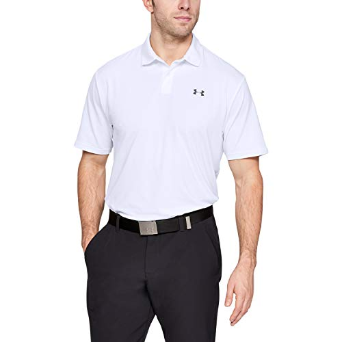 Under Armour Men's Performance 2.0 Golf Polo , White (100)/Pitch Gray , XX-Large
