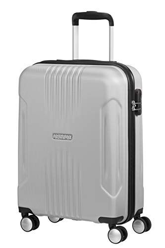 American Tourister Tracklite - Spinner S Hand Luggage, 55 cm, 34 Litre, Silver