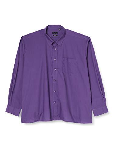 Premier Workwear Poplin Long Sleeve Shirt, Chemise Business Homme, Violet, XXX-Large