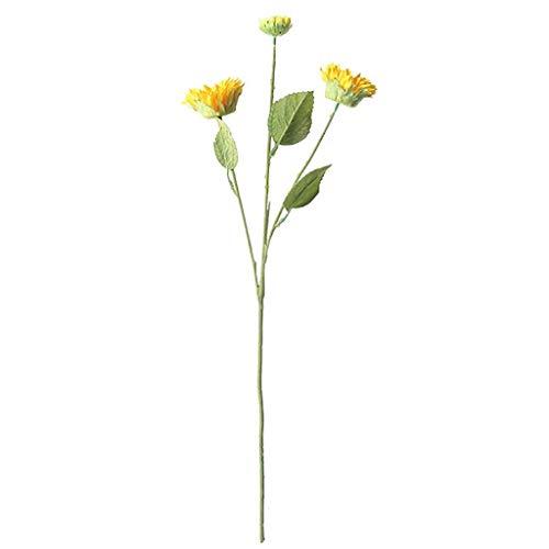 UKtrade Faith Flores artificiales de girasol falso Plantas florales Boda suministros Decoración de flores para el hogar 1 pieza 22.6 pulgadas