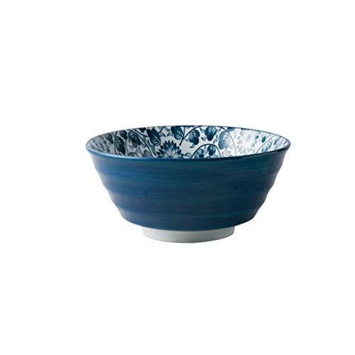 YASE-König Keramiknapf Obst- und Gemüsesalat Tray Nudel Steak West Dish Besteck Diät Geschirr Wasser Lotus-Muster 18x8.5cm