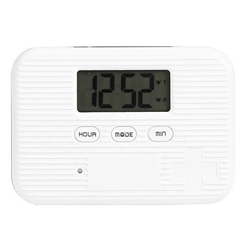 Yisentno Automatischer Tablettenspender, multifunktionale feuchtigkeitsbeständige staubdichte elektronische Medizinbox, geruchlos für die Heimreise(6 Grid Gray)