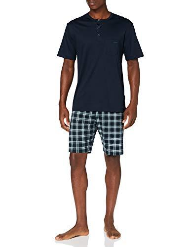 CALIDA Herren Relax Choice 2 Pyjamaset, Dark Sapphire, S