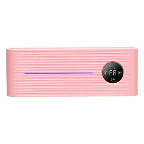 OVBBESS Cepillo de Dientes con Luz UV Esterilizador Soporte Inhibir Cepillo de Dientes Bacteriano Caja Antibacteriana Soporte de Cepillo de Dientes de Montaje en Pared-Rosa