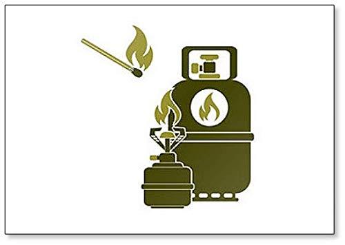 Camping Fornuis met Gas Fles Classic Koelkast Magneet