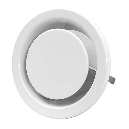 Ø 125mm Abluft Tellerventil Abluftventil Stahlblech Weiß Rund für Rohranschluss Ø DIN 125mm