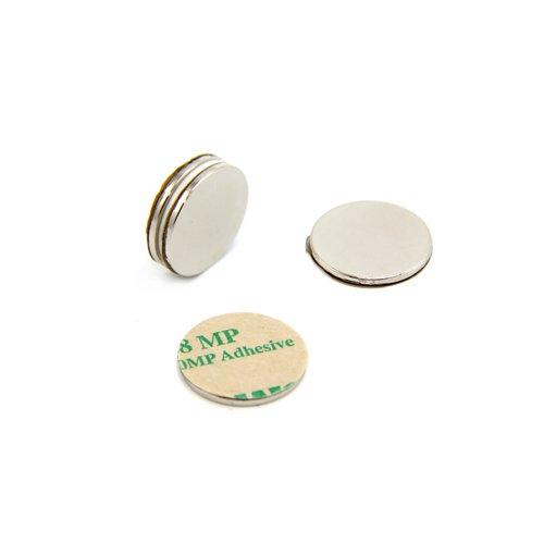 First4magnets F2015SA-4 Selbstklebende 20mm Durchmesser x 1,5 mm N42 Neodym-Magneten-2kg ziehen (Süd) (4-er Pack), silver, 25 x 10 x 3 cm, 4 Stück