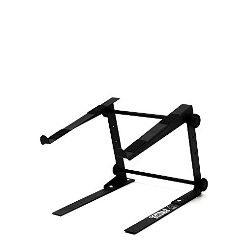 Gorilla GLS01 DJ Laptop Stand Computer DJ Lap Top Table High Riser Height & Width Adjustable Lifetime Warranty