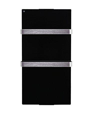 PURLINE ZAFIR V600T B Radiador toallero eléctrico de Cristal Templado Negro, Control...