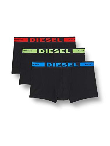 Diesel Herren Boxershorts UMBX-KORYTHREEPACK BOXER 3PACK (3er Pack), Schwarz (Black 01), L