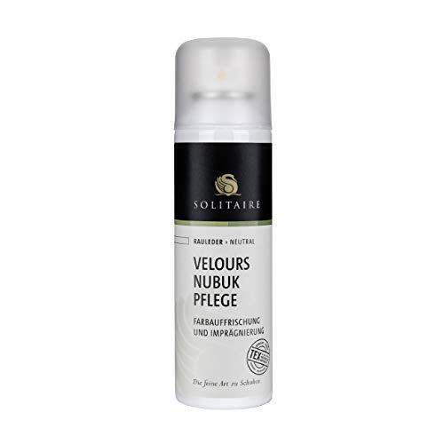 Solitaire Velours Nubukpflege Spray 200 ml Farbauffrischung und Imprägnierung für alle Rauleder (Velours-, Nubuk- und Wildleder) sowie Textilien Farbe neutral