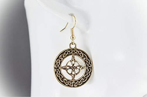 Gold Celtic Knot Earrings For Women Set Knot Circle Round Pendant Dangle Earrings For Women Set Lightweight