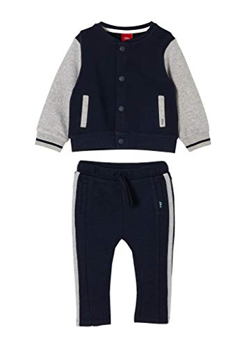 s.Oliver Unisex - Baby Jogging-Set im College Look dark blue 68