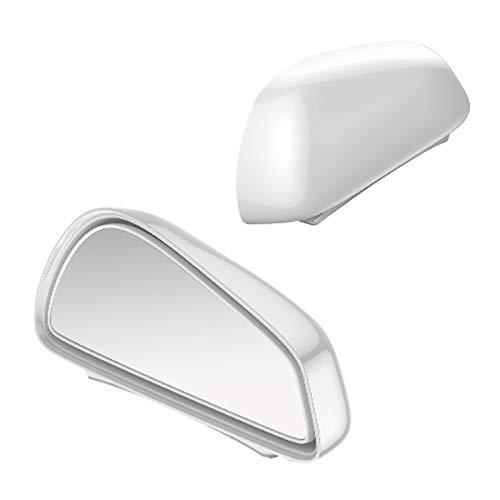 LLKLKL Espejo del Punto Ciego de Coche, Universal Espejo Retrovisor del Coche, HD Gran Angular 360 ° Canvex Espejo Retrovisor de Coche,Blanco