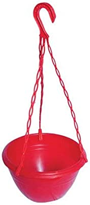 GENERIC Plastic Hanging Pot RED Pack of 2