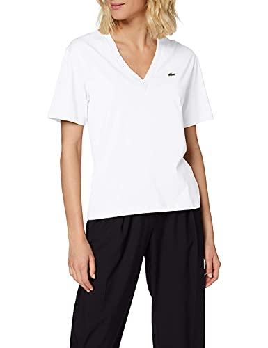 Lacoste TF5458 Camiseta, Blanc, 40 para Mujer