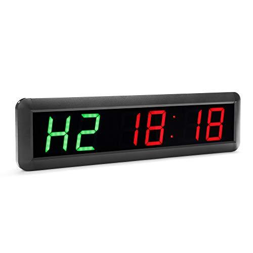 N/ A Orologio da Parete con cronometro Digitale Conto alla rovescia a 6 Pollici da 2,3 Pollici 6 per Palestra casa Fitness (Verde/Rosso)