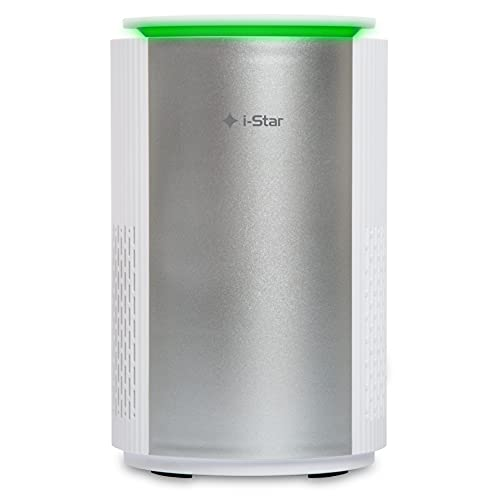 Purificatore d aria con Filtro HEPA, Luce Notturna e Ionizzatore, Sanificatore Ambienti Depuratore Aria Elimina Odori per la Casa, Rimozione di Virus e Batteri 99,5%