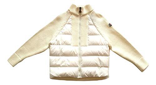 Moncler Junior Jacke Tricot Dolcevita Cardigan Kinder weiß 9450105, Weiß 10 Jahre
