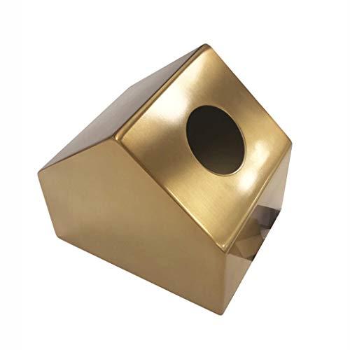 Tissue Holder Box Design in metallo Disegnare la scatola del tessuto di carta Semplicità coperchio del tessuto del tessuto, supporto per tovagliolo per la casa, per camera da letto o ufficio ornamenti