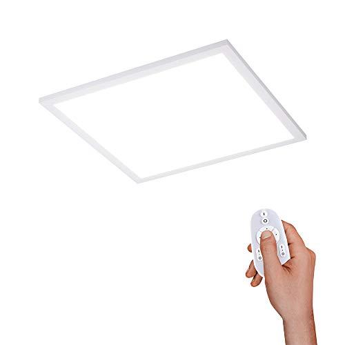 LeuchtenDirekt, LED Panel, 45x45, Deckenleuchte, dimmbar mit Fernbedienung, Deckenpanel, Farbtemperatur einstellbar, warmweiss - kaltweiss, indirekte Deckenbeleuchtung, weiss, quadratisch, IP20