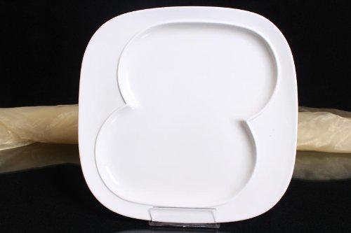 3x Teller Servierteller Flachteller Porzellan Weiß Gastronomiebedarf