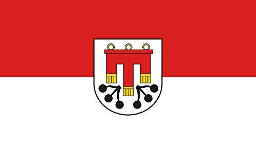 Unbekannt magFlags Tisch-Fahne/Tisch-Flagge: Kressbronn am Bodensee 15x25cm inkl. Tisch-Ständer