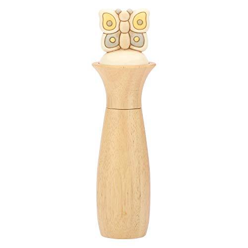 THUN - Macinasale Macinapepe Elegance con Farfalla - Legno e Ceramica - 34 cm h