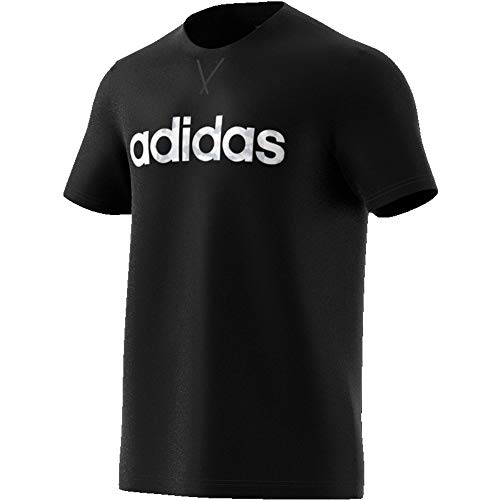 adidas Mens E Camo Lin Tee T-Shirt, Black/White/Grey/Grey, L